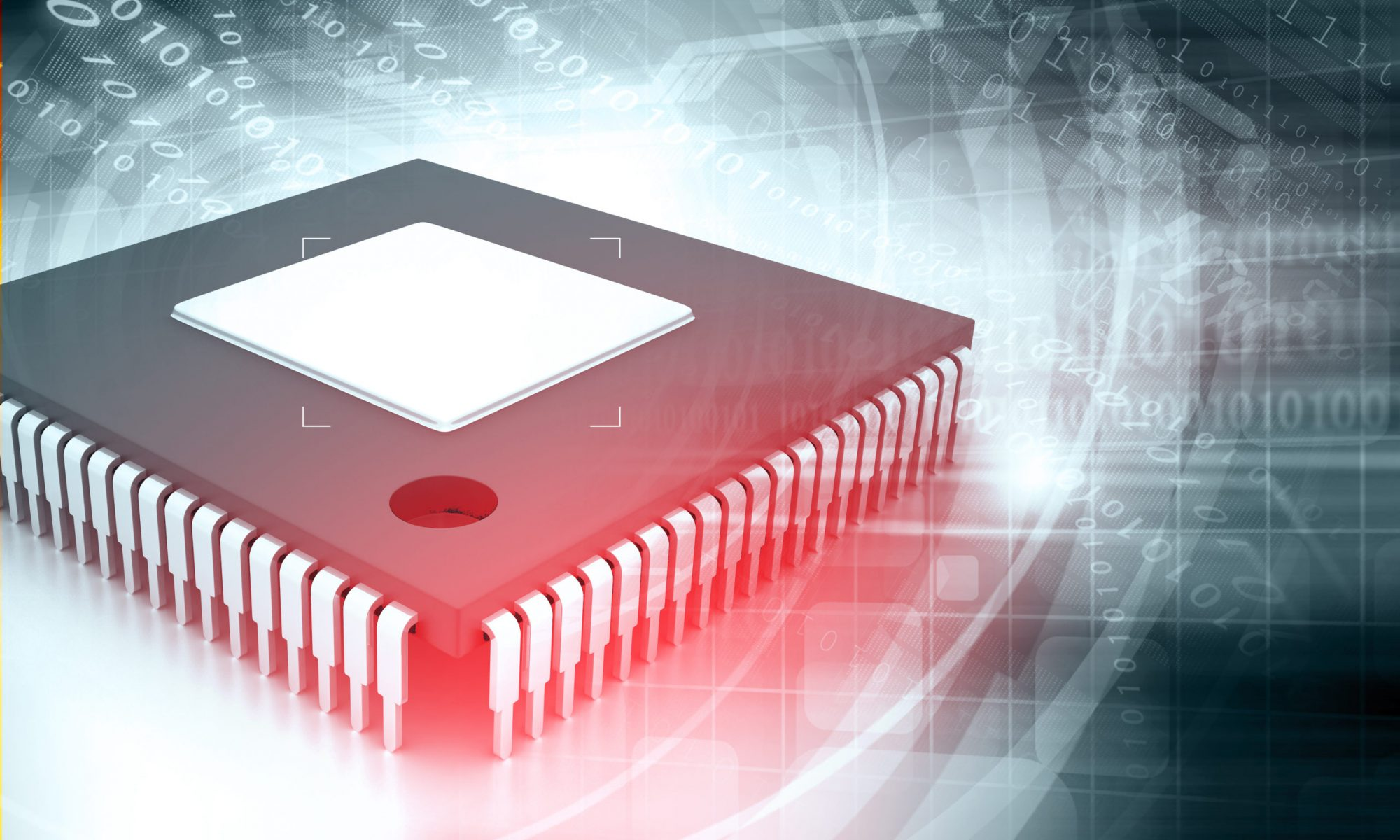 Integrated,Circuit,On,Binary,Background,,Ic,Chip